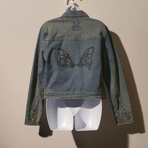 Levi's Womens Jean Jacket w/Butterfly